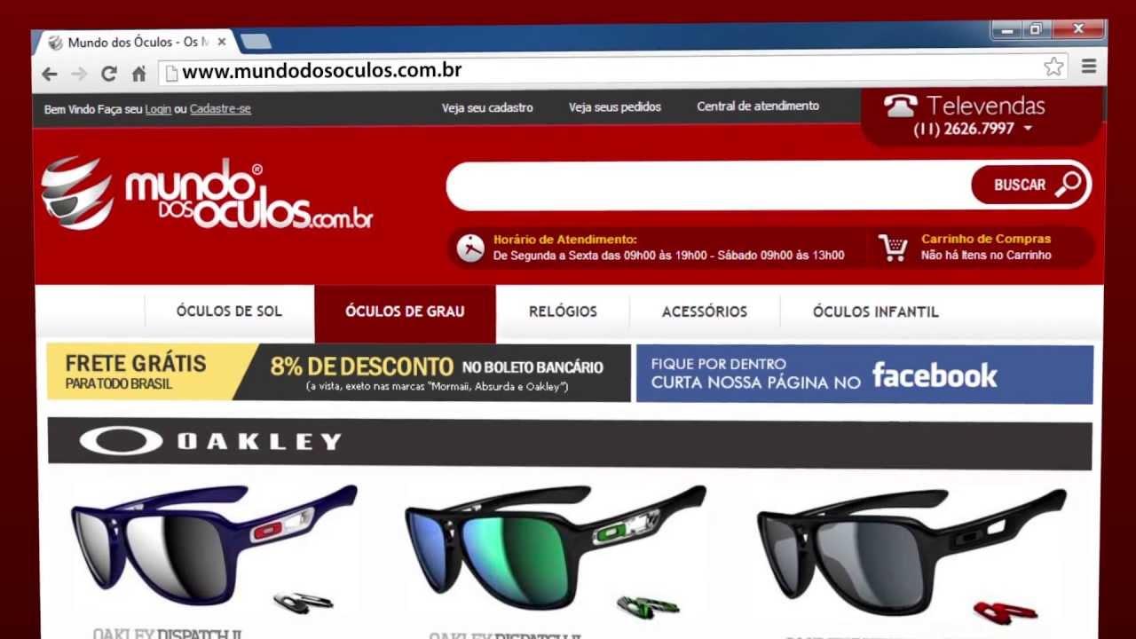 cf1c223e0 Loja virtual Mundo dos Óculos - As melhores marcas, a maior variedade e o  melhor atendimento. - YouTube