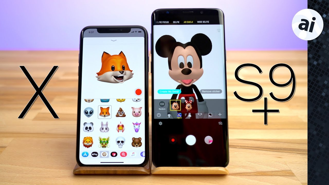 Animoji vs AR Emoji - iPhone X vs S9 Plus