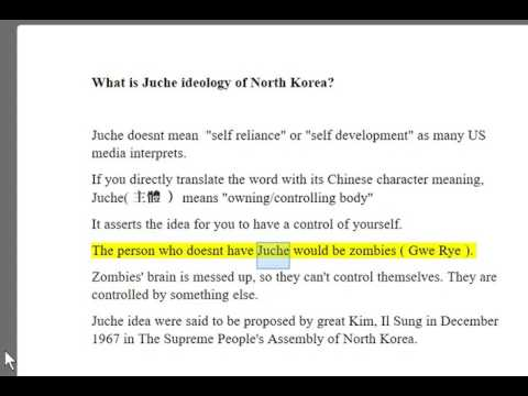 what is Juche  ideology of north korea ??