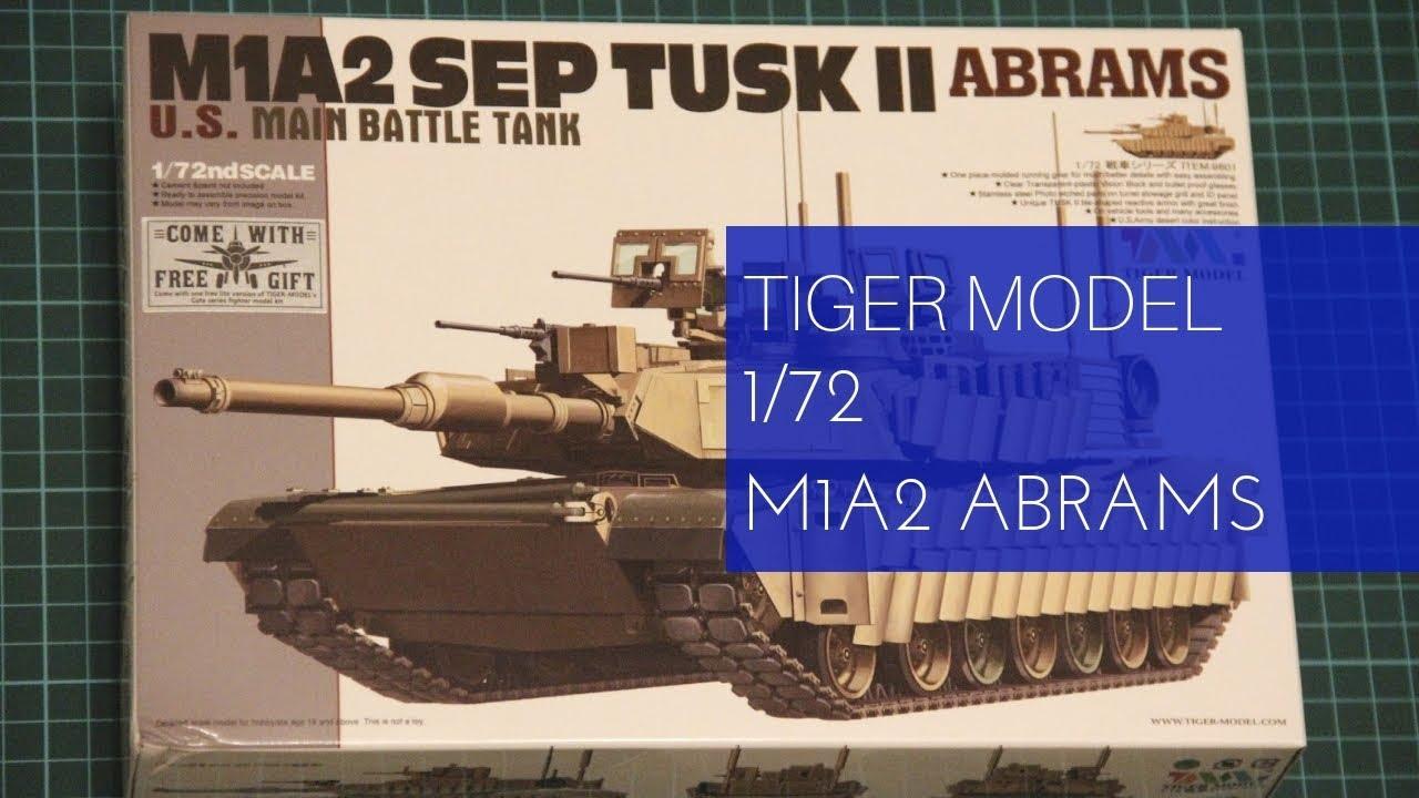 Tiger Model 1//72 9601 US M1A2 SEP TUSKII ABRAMS Main Battle Tank