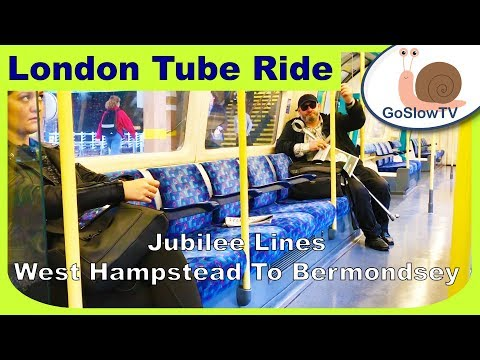 London Underground Tube Ride | West Hampstead To Bermondsey | Jubilee Line | Slow TV | Episode 95