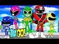 Teen Titans Go! Color Swap Raven Power Rangers Green Ranger Surprise Egg and Toy Collector SETC