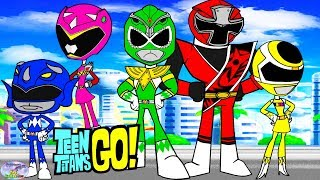 Teen Titans Go! Color Swap Raven Power Rangers Green Ranger Surprise Egg and Toy Collector SETC