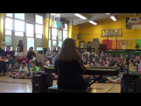 Fight Song by Rachel Platten at Lynn Crest Elementary school assembly for autism awareness
