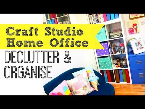 HUGE CRAFT ROOM DECLUTTER & ORGANISE   Storage Hacks & Tips   Poundland, Wilko, Ikea & George