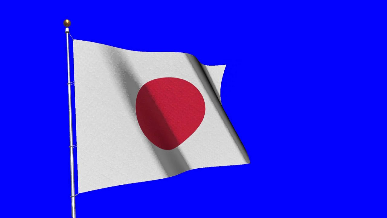 flag of japan royalty free backgorund video effect footage aa vfx