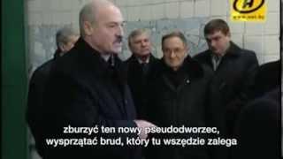 Łukaszenko na dworcu PKP w Poznaniu
