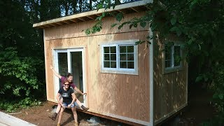 building a Tiny House in Seven Days - Siding and Roof