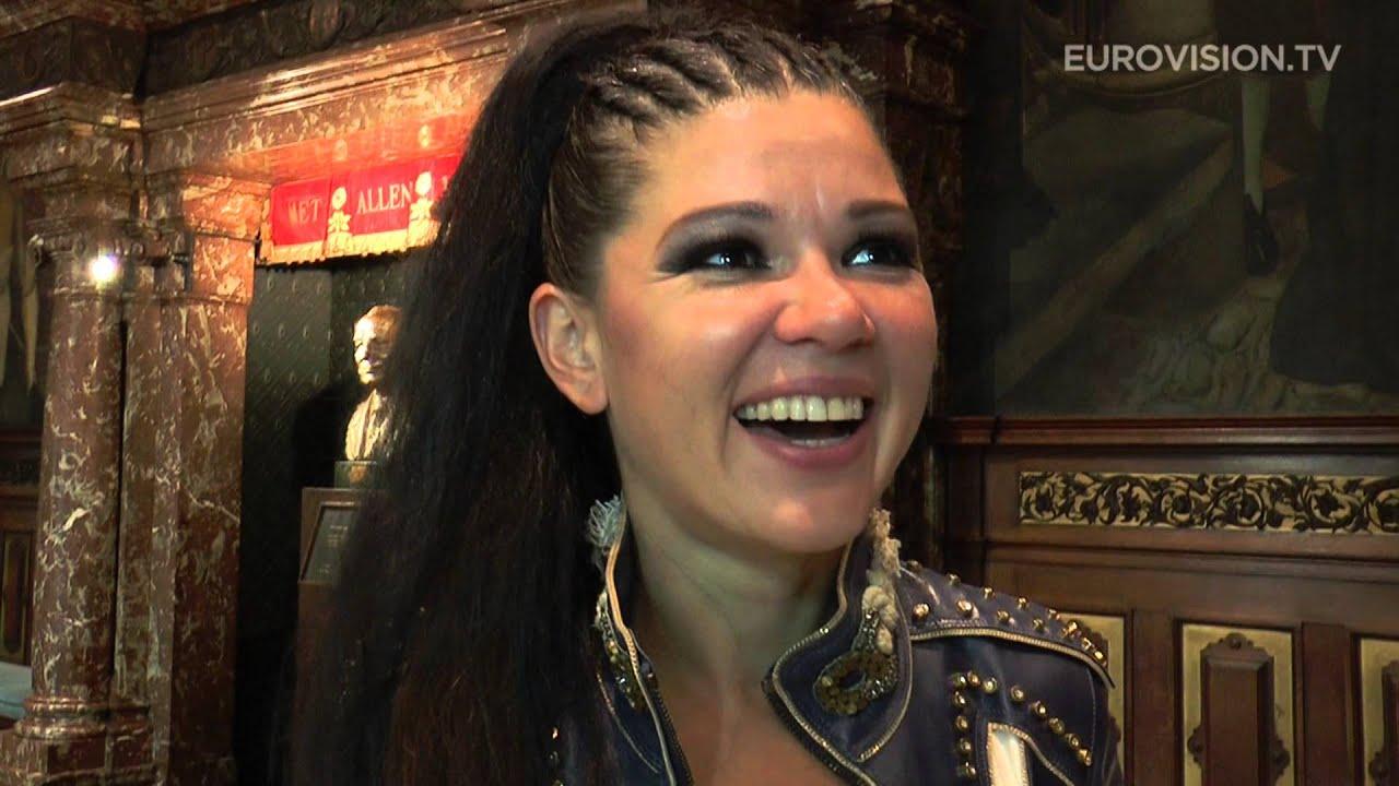 Interview with Ruslana in Antwerp. (Belgium)