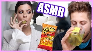 ASMR EATING THE CRUNCHY FOODS | LAURA LEE