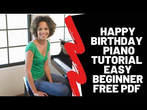 Happy Birthday Free Easy Piano Sheet Video