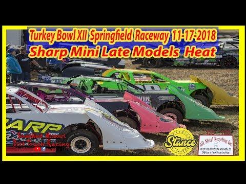 Mini Late Models - Heat Races - Turkey Bowl XII Springfield Raceway 11-17-2018