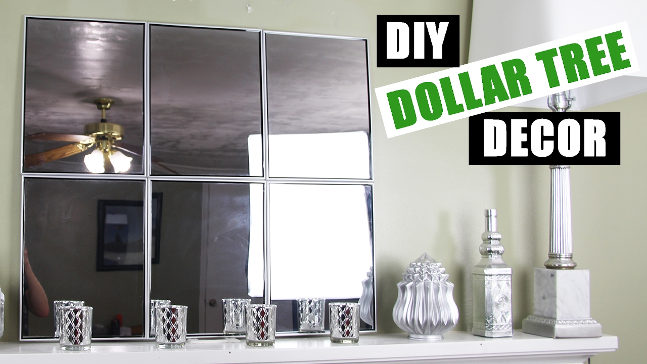 DOLLAR TREE DIY Mirror Wall Art | Dollar Store DIY Mirror Room Decor |  Cheap DIY Mirror Mantle Decor