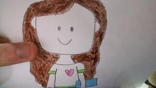 Drawing Girl Cute School Easy