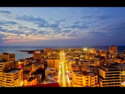 """""""TYRE"""" A LEBANESE CITY AT NIGHT (CAR DRIVE)"""