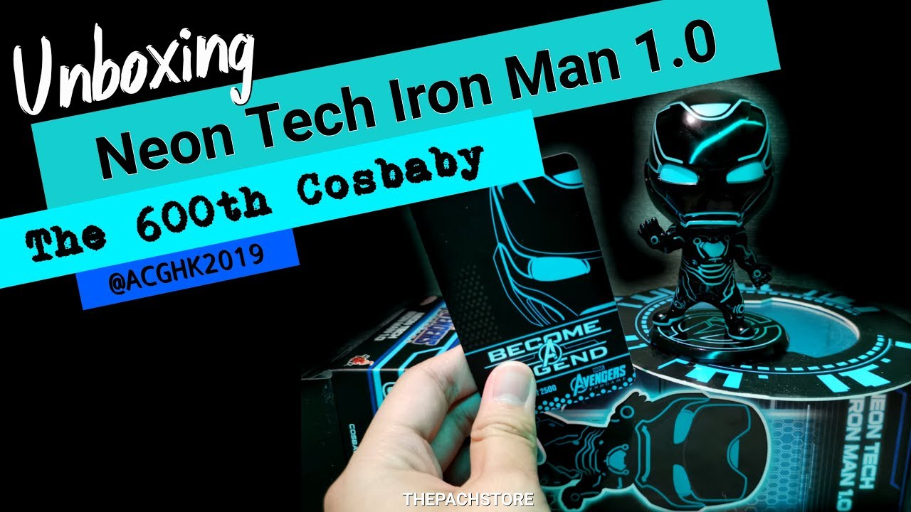 Hot Toys Cosbaby Avengers Endgame Iron Man Neon Tech 1.0 NEW