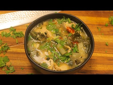 Barley Rice and Chicken Soup with Vegetables -how to cook barley healthy recipes -