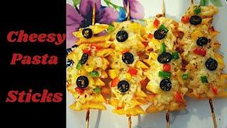 Cheesy Pasta Sticks  Quick Snacks Recipe  Instant Snacks Recipe