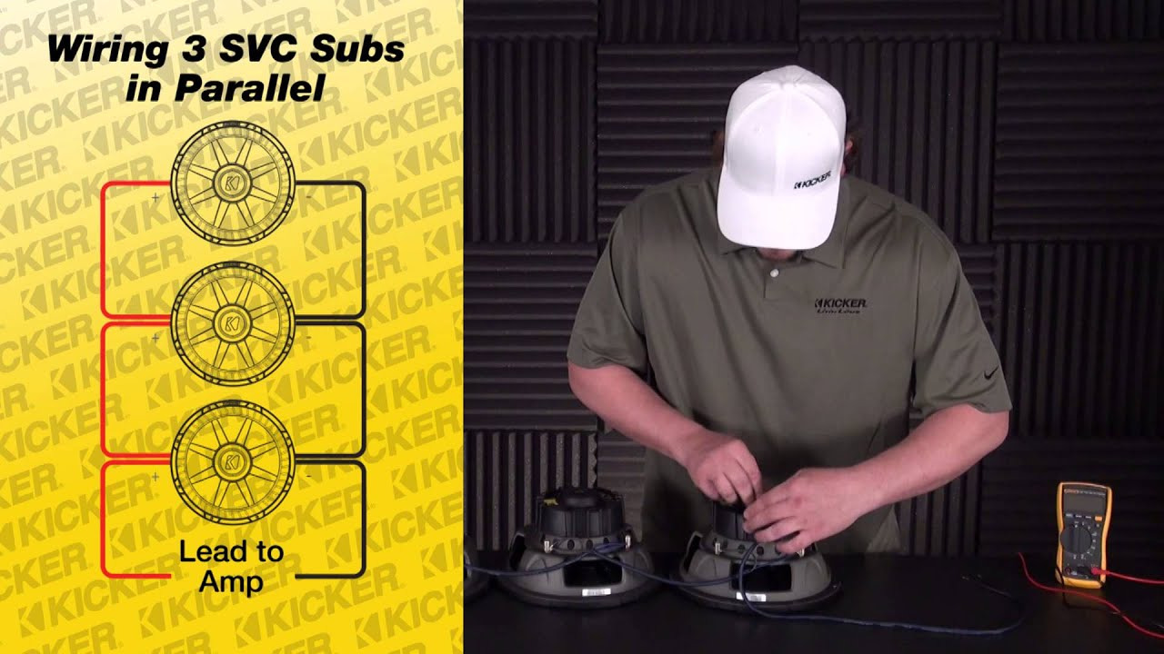 subwoofer wiring three svc subs in parallel kicker [ 1280 x 720 Pixel ]