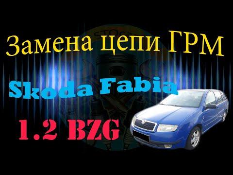 Замена цепи ГРМ Skoda Fabia 1.2 BZG