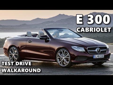 2018 mercedes e 300 cabriolet test drive exterior interior youtube. Black Bedroom Furniture Sets. Home Design Ideas