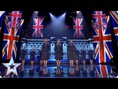 RULE BRITANNIA! The DDay Darlings get everyone feeling patriotic!  SemiFinals  BGT