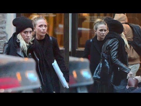 10012017  MaryKate & Ashley Olsen seen leaving their NYC offices dressed for the cold  HD