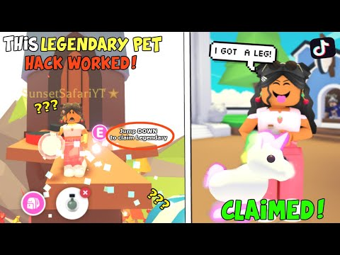 How to ALWAYS HATCH LEGENDARY PETS In Adopt Me 2020!!! *WORKING*    SunsetSafari