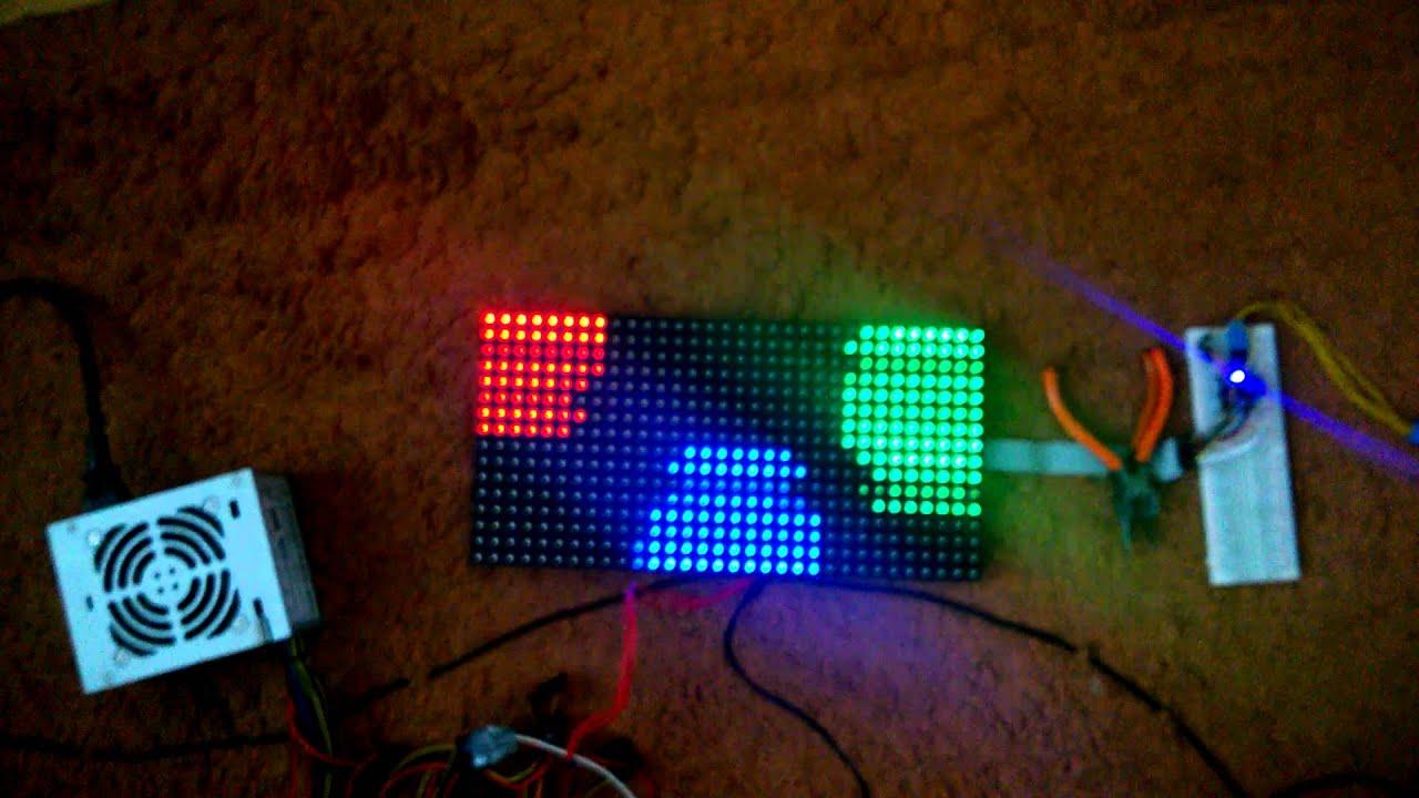 Arduino pro mini led matrix rgb  youtube
