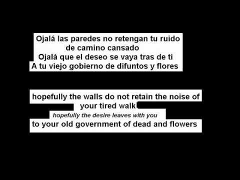 Ojala- silvio rodriguez -Spanish (subs-Spanish-English-espanol-ingles)
