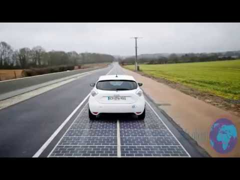 The roads in France are going solar