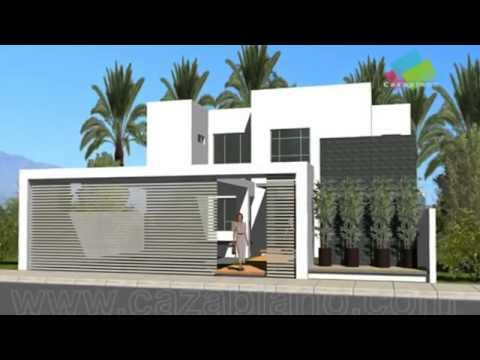 Planos de casas con fachadas youtube - Planos de casas minimalistas ...