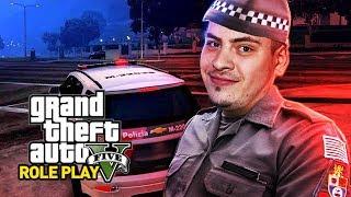 GTA V RP BRASIL - VIDA REAL! MEU PRIMEIRO DIA COMO POLICIAL MILITAR!