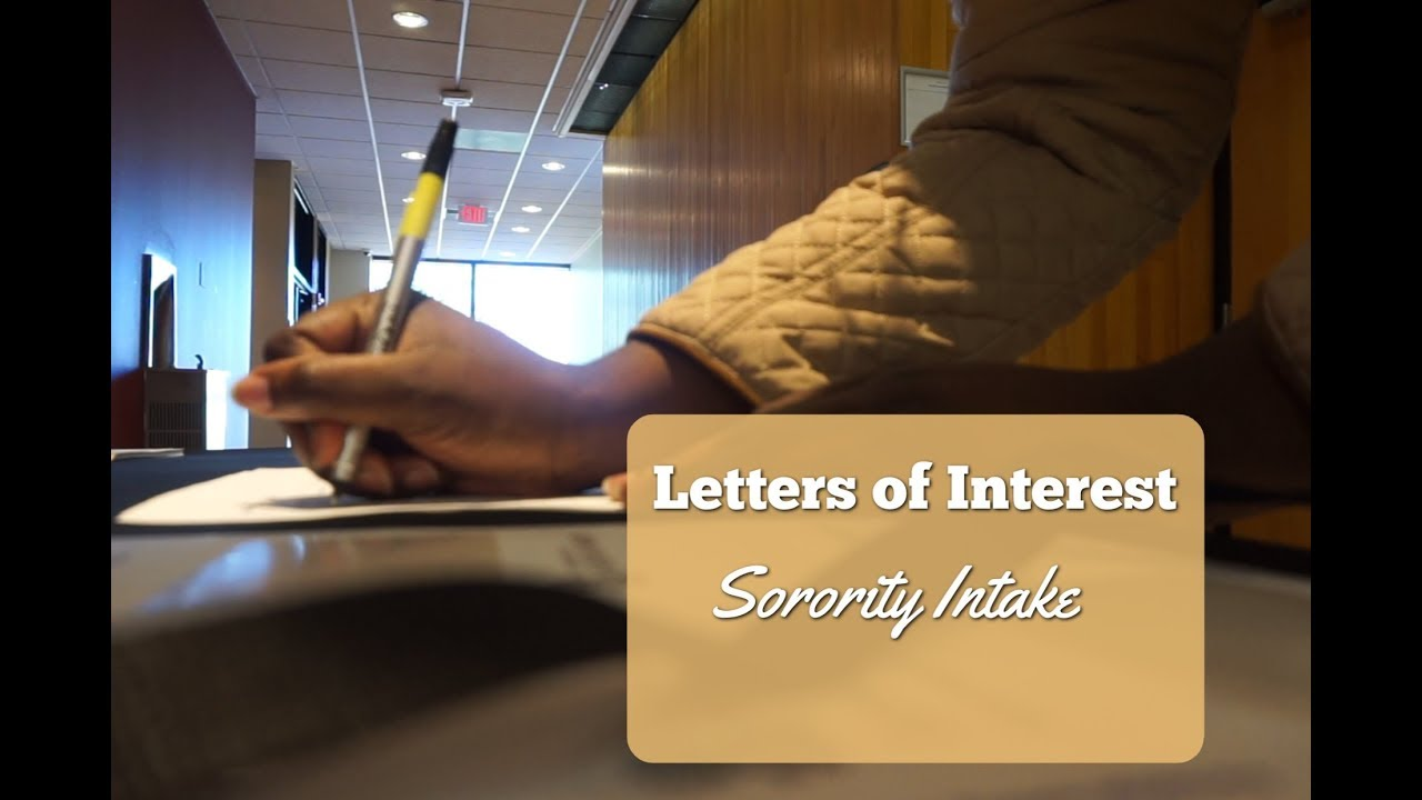 Sorority Letters Of Interest Sorority Intake Advice Kelstells