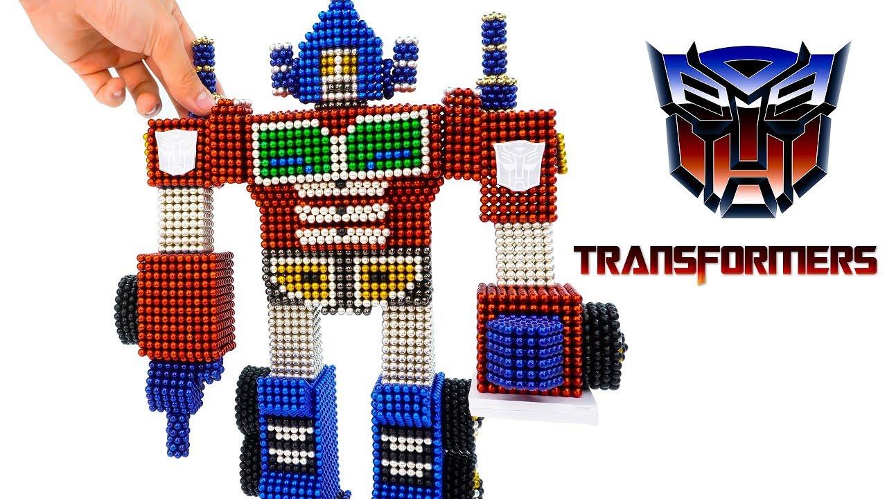 DIY - How To Build Optimus Prime Transformer With Mangetic Balls (Satisfaction) - Magnet Balls