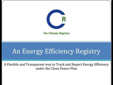 An Energy Efficiency Registry: Tracking state EE efforts towards US EPA's Clean Power Plan