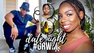 My 1st DATE NIGHT Hair, Makeup, and Outfit #GRWM chit chat