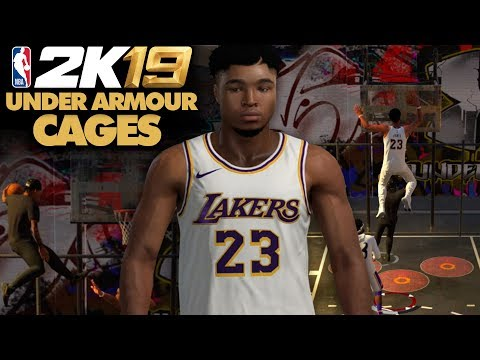 NBA 2K19 Under Armour Cages - CRAZY DUNKS & ALLEY-OOPS!