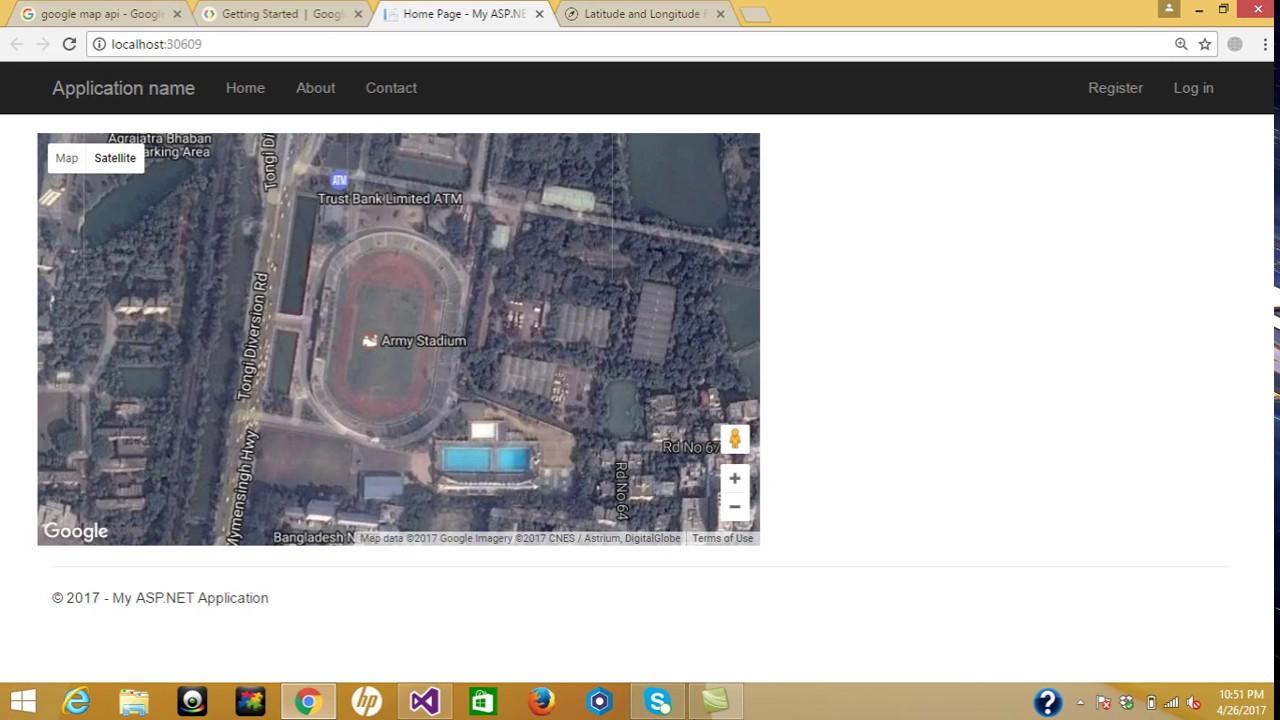 Part 1How to configure Google map in ASPNET