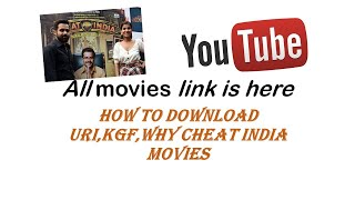 how to download why cheat india, kgf or uri in 1 min.