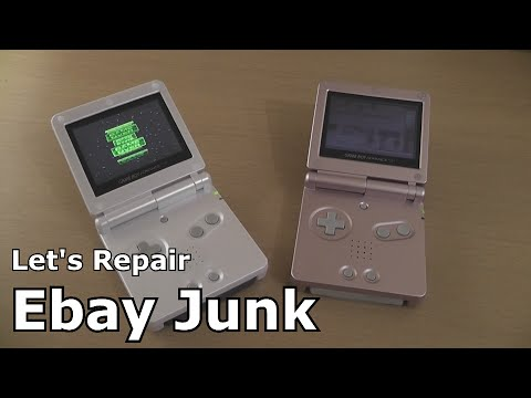 Let's Repair - Ebay Junk - Nintendo GBA SP - Backlit Betting