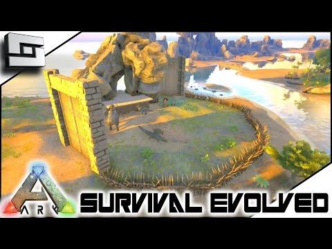 ARK: Survival Evolved - STARTER BASE DEFENSE! S3E8 ( Gameplay )