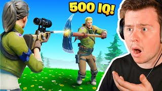 Reacting to the MOST 500IQ Plays in FORTNITE HISTORY!