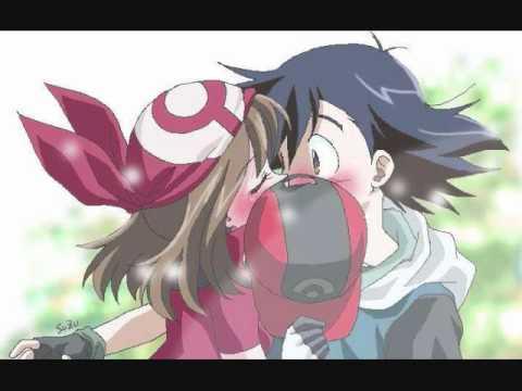 Pokemon Ash and May-Kiss the girl - YouTube
