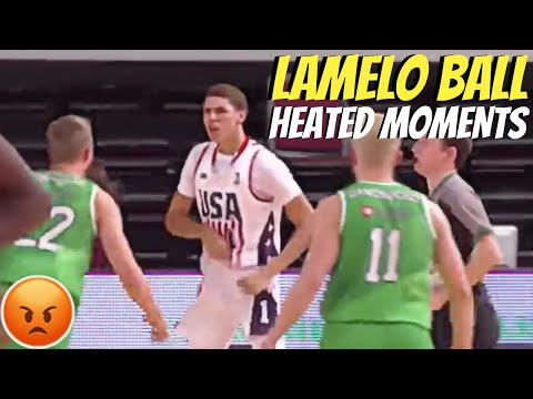 LAMELO BALL HEATED MOMENTS!
