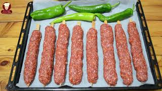 EVDE KOLAY ADANA KEBAB TARİFİ (Homemade Turkish Adana Kebab)