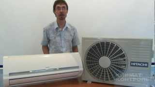 видео Кондиционер бытовой Hitachi RAS-10EH3 / RAC-10EH3 Inverter