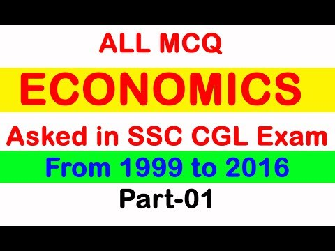 ALL MCQ ECONOMICS Asked In SSC CGL From 1999 to 2016 Part 01