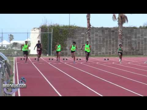 100 Metre Race BTFA Track Meet Bermuda Feb 19th 2011