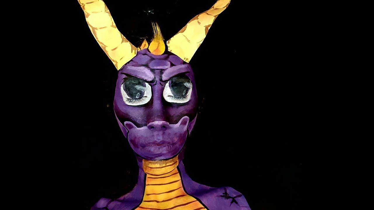 Spyro The Dragon Face Paint  sc 1 st  YouTube & Spyro The Dragon Face Paint - YouTube